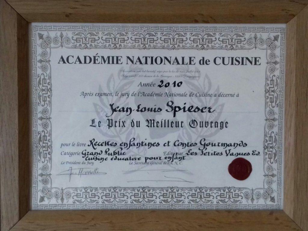 Diplôme Académie Nationale de Cuisine