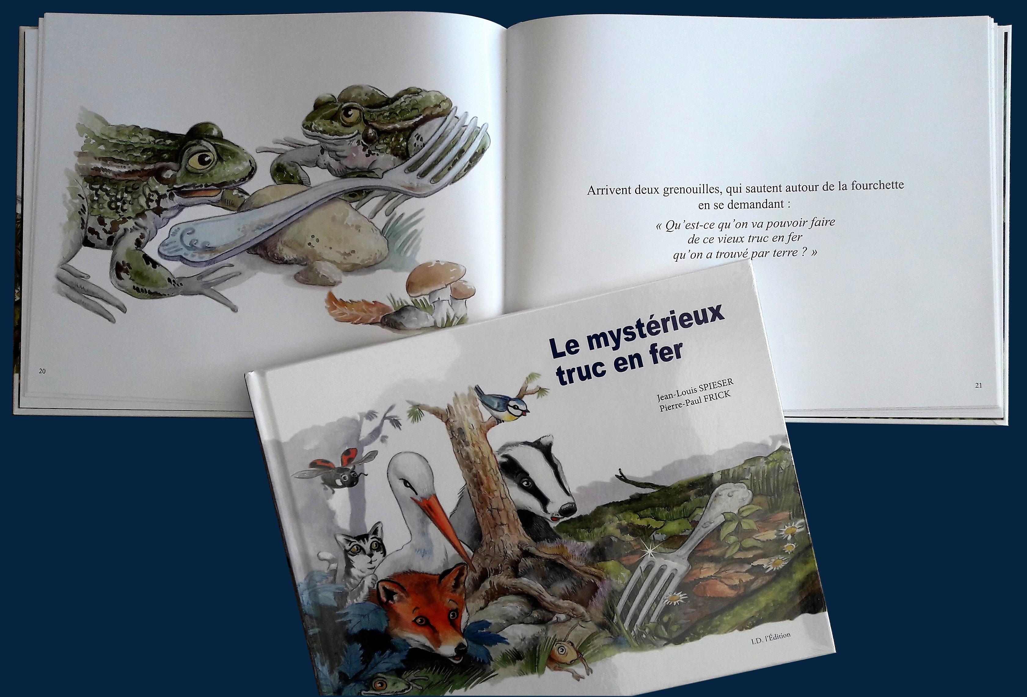 couverture du livre et livre ouvert